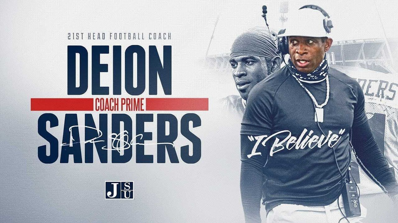 Primetime Deion Sanders Named Head Football Coach Of Jackson State Un In 2020 Jackson State Football Coach Jackson State University