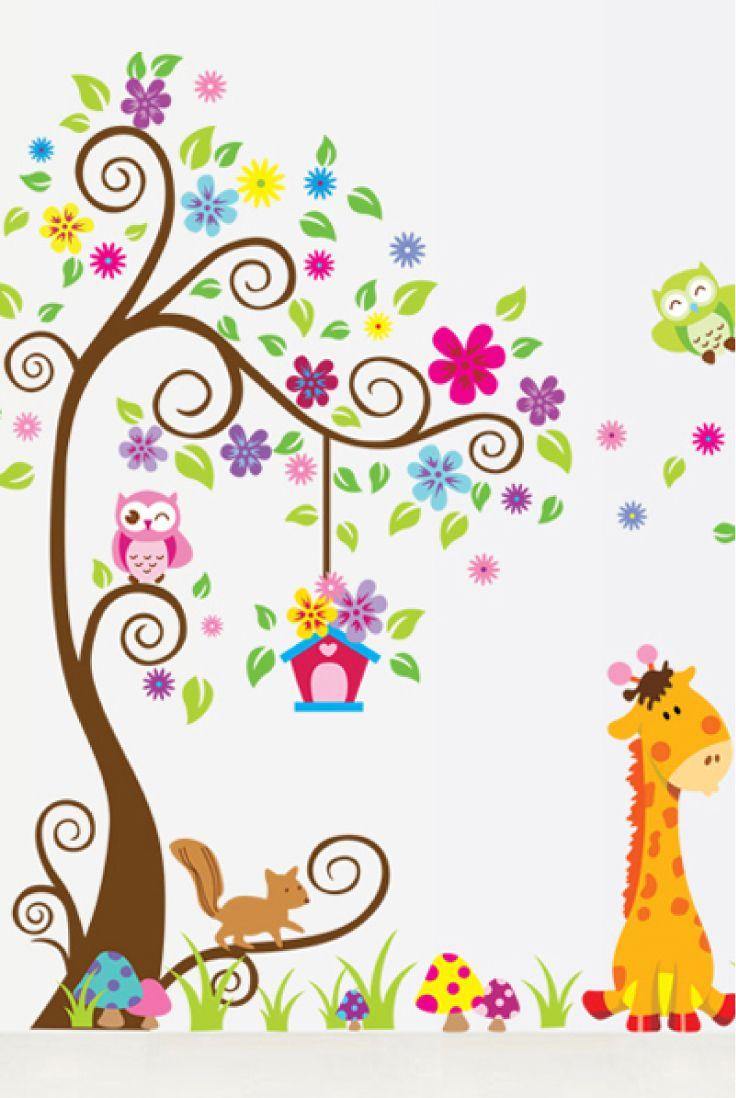 Dipinti Murali Per Camerette sticker murale f.to 200x160 cm per camera bambini (con