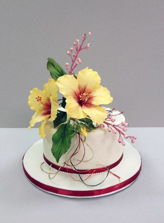 Metal Hibiscus  Cake Decorating