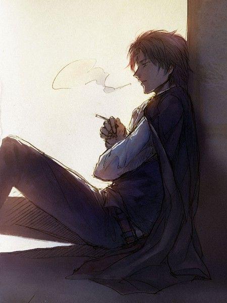 Gintama Hijikata Dark Anime Guys Anime Guys Anime Art