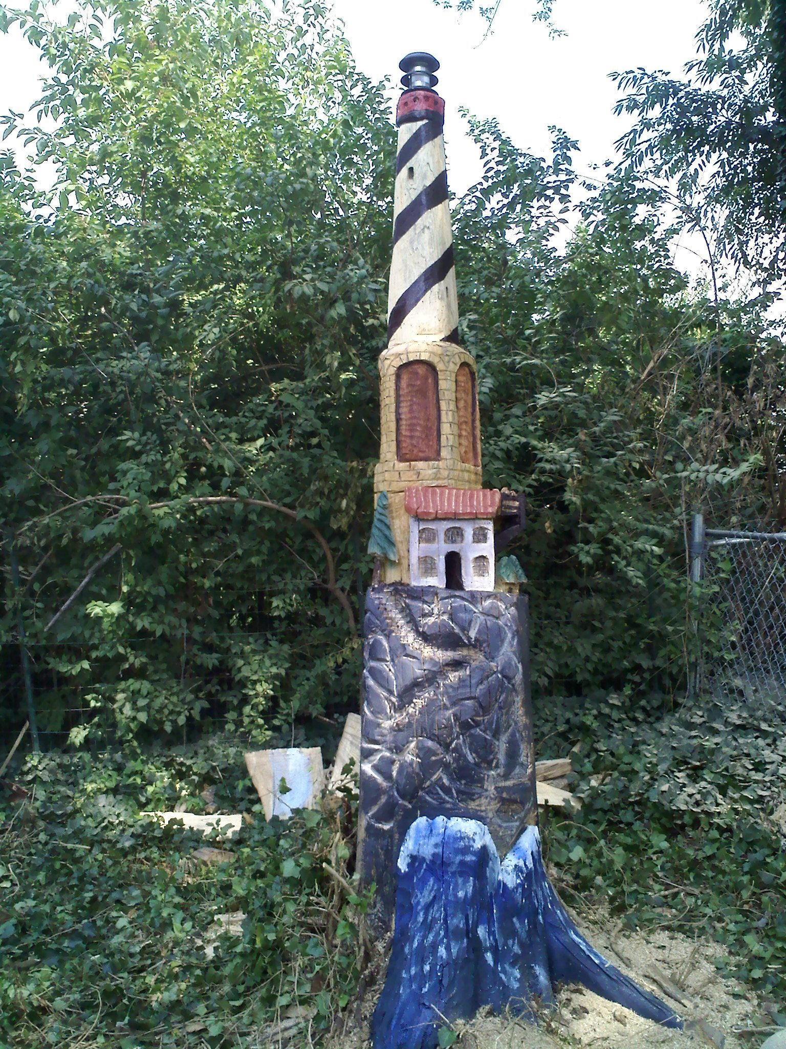 Lighthouse Chainsaw Carving