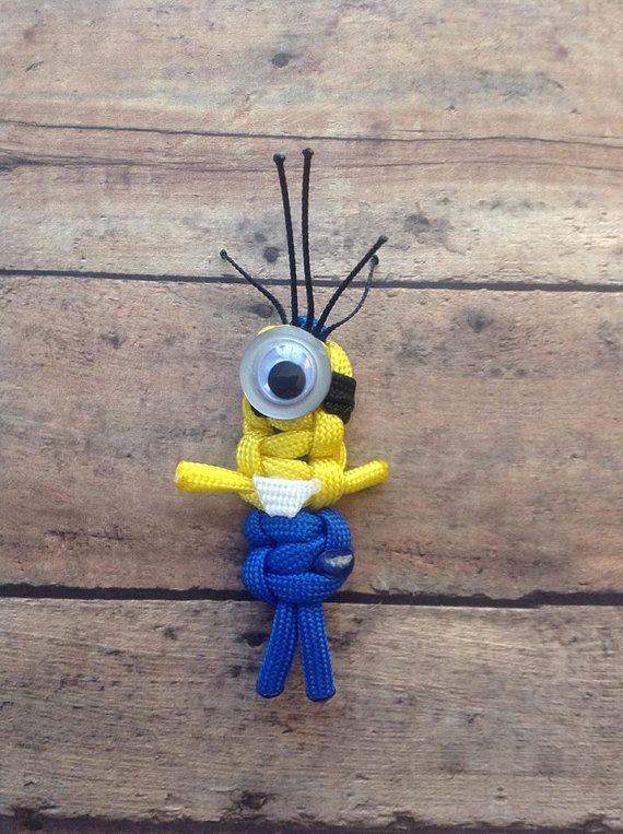 paracord minions by paracordlady on etsy para ideas pinterest. Black Bedroom Furniture Sets. Home Design Ideas