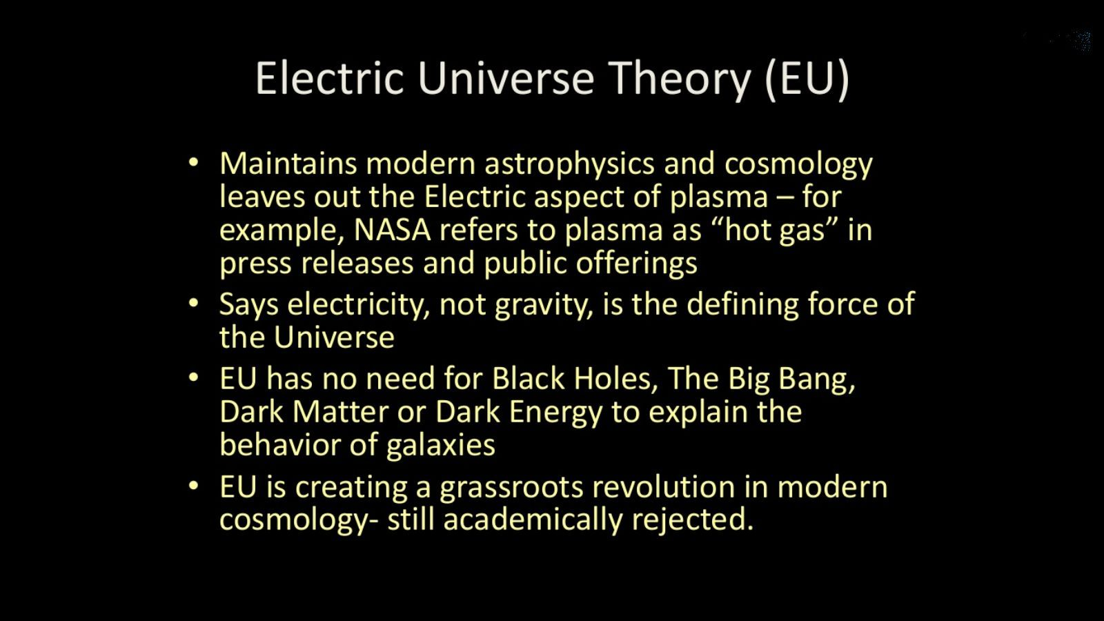 Attached Is An Overview Of The Electric Universe Or Plasma