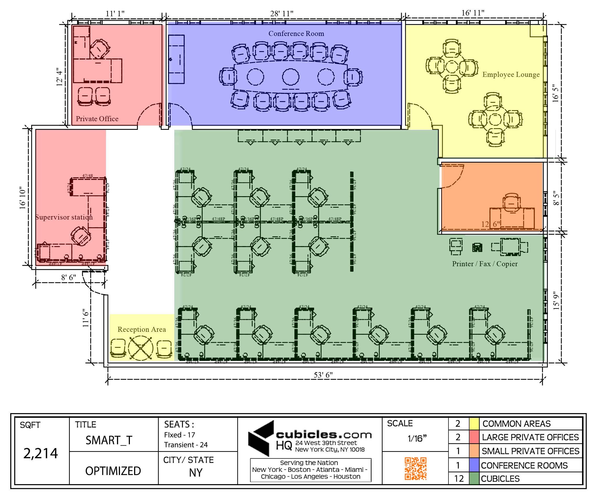 Office floor plan for an office with large meeting room for New office layout design