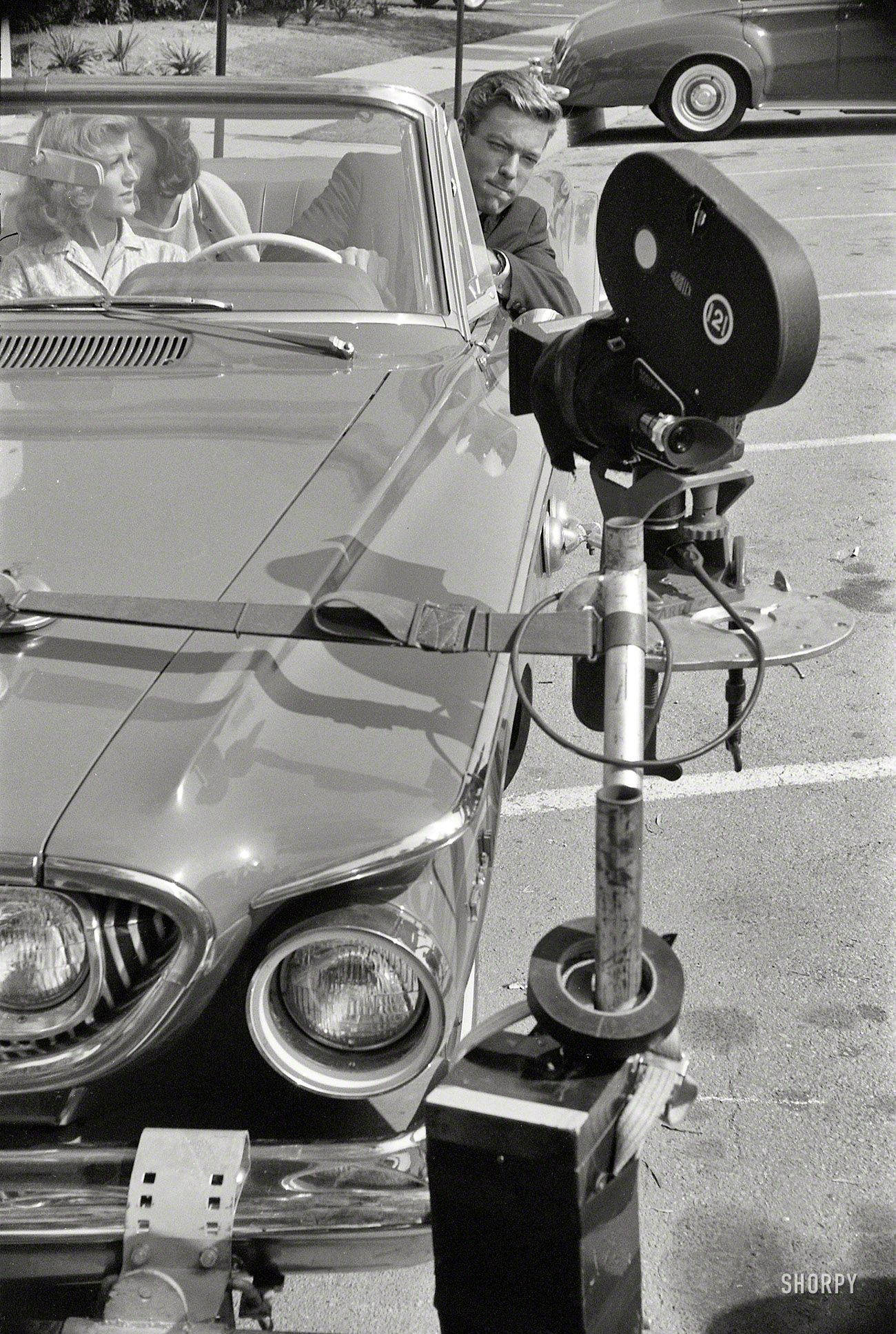 Richard Chamberlain At MGM Studios Los Angeles Filming - Classic car studio tv show