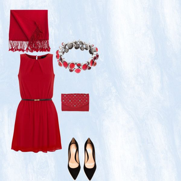Dress up for a night out with the Grace Adele Classic Scarf in Scarlet combined with the Lyra Bracelet in Scarlet and the Britt clutch in Scarlet.
