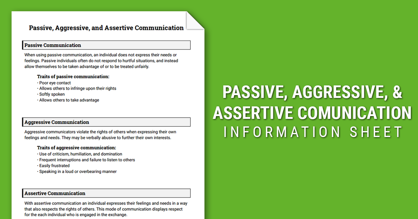 Worksheets Assertive Communication Worksheet communication skills are an essential foundation for any type of work with couples and families assertive is a