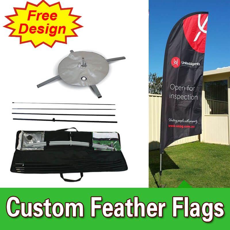 Free Design Free Shipping Cheap Advertising Flags Custom