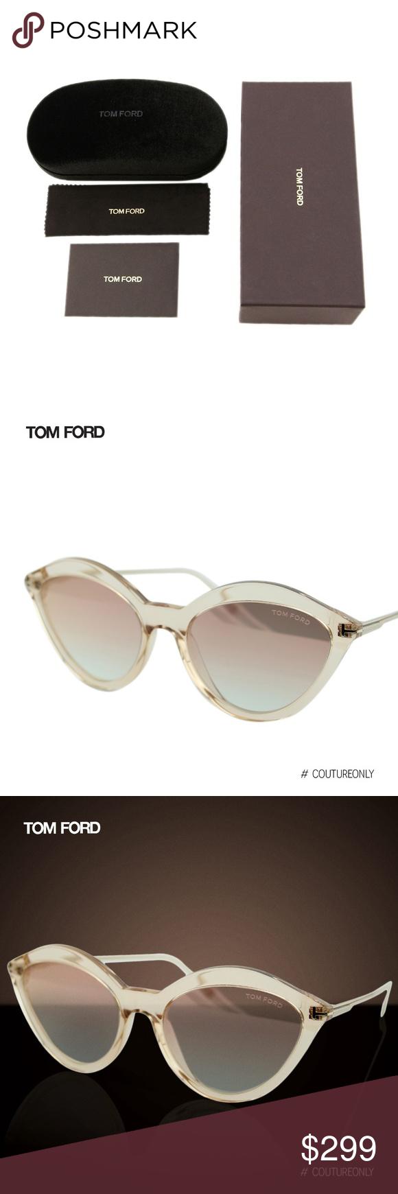 45d8a8ae18482 New 2019 Tom Ford Chloe FT0663 Cat Eye Sunglasses SKU  FT-0663-45G ...