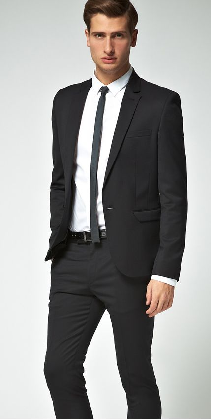 Extra slim tuxedo stripe | Suits | Pinterest | Slim fit dresses ...