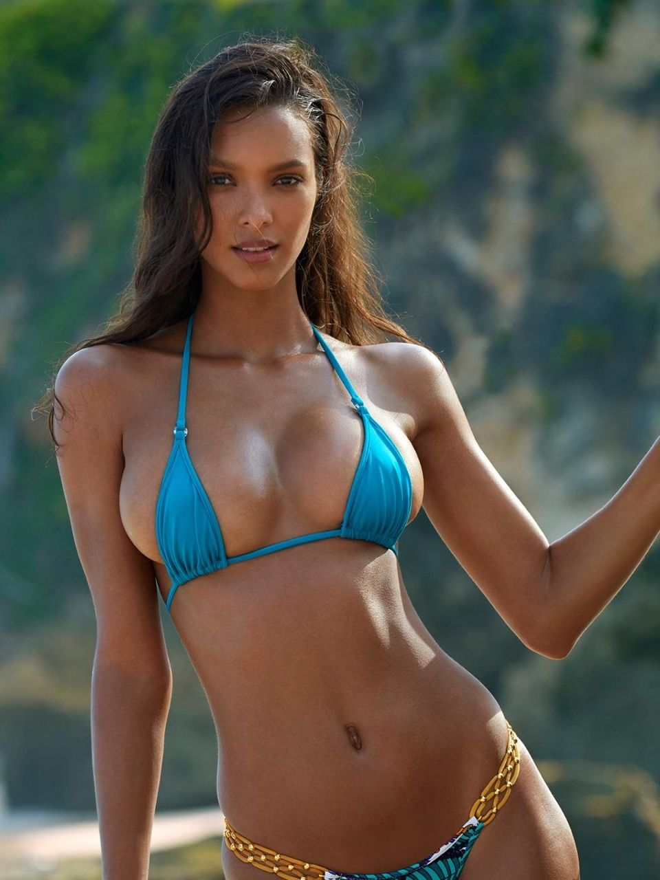Femdom bikini beach