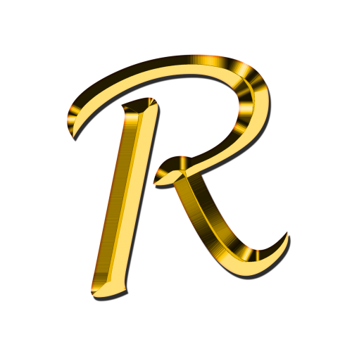 Letters Abc R Alphabet Learn Education Read Illiterate Communication School Font Training Leave Know Gold Golden Gloss Alphabet Alphabet Images Letter R Tattoo