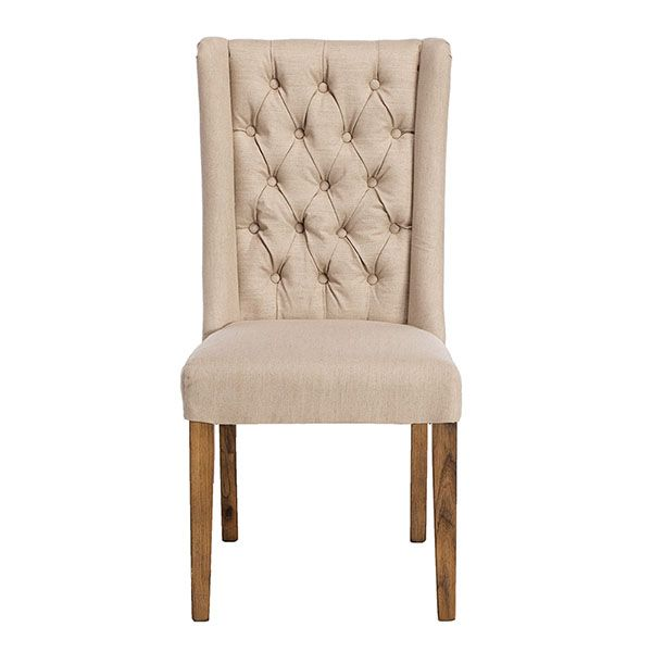 Kipling Fabric Dining Chair Cream And Oak Available Online At Beauteous Cream Dining Room Furniture Decorating Inspiration