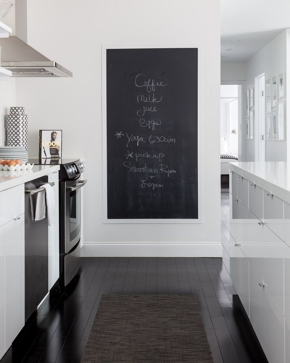 Kitchen Layout Notes: Chalk Board In The Kitchen For Quick Notes, Motivational