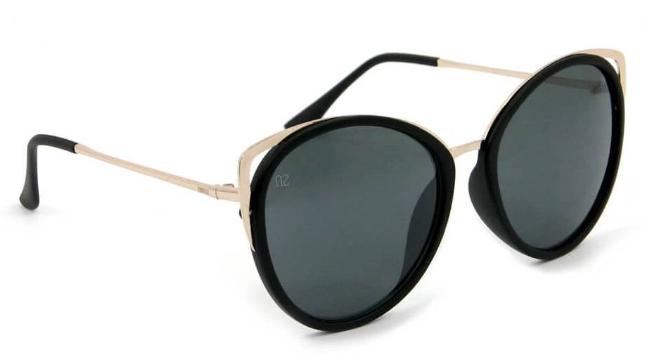 170172788180a Óculos de Sol Gatinha Preto e Dourado - Bijoulux Acessórios   Closet ...