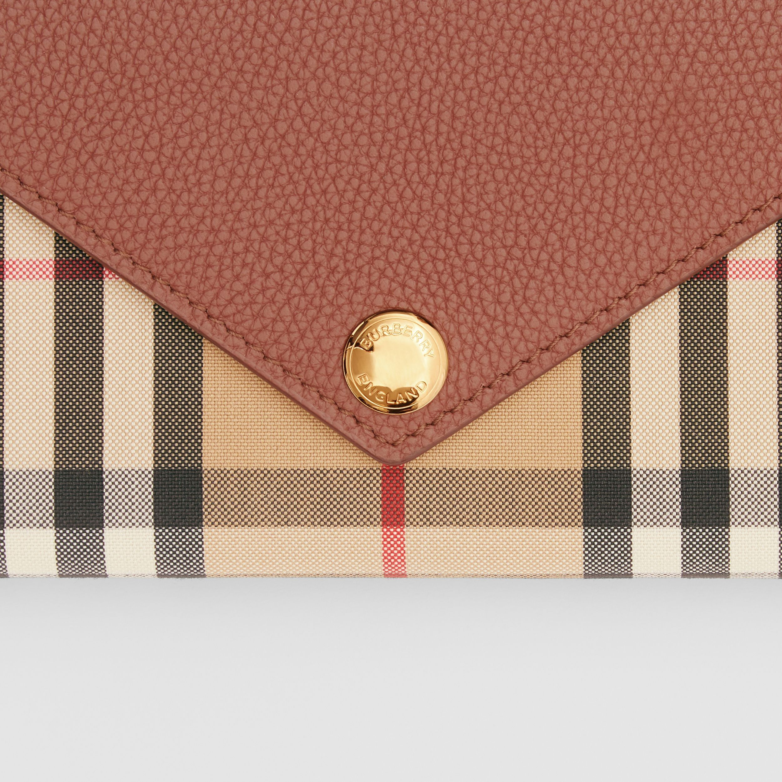 Vintage Check and Leather Continental Wallet in Tan - Women  Burberry United States #Ad, , #Sponsored, #Continental, #Wallet, #Leather, #Vintage, #Check