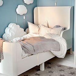 Ikea Kinderbett mit Wolken | Kinderzimmer Ideen | Pinterest ...