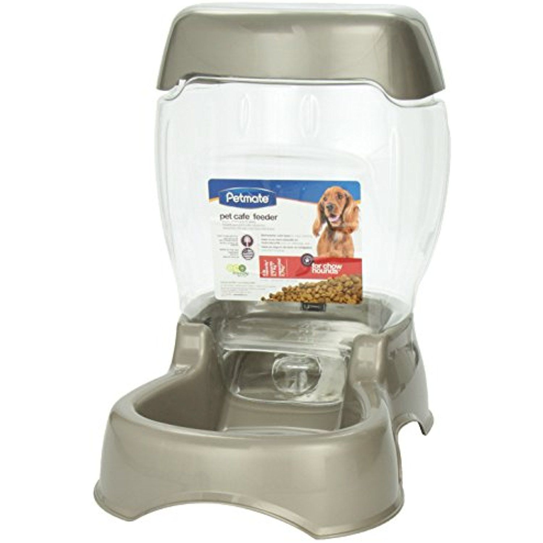 Petmate Food Dispenser Petmate Pet Cafã© Feeder 6 Pound Capacity Pearl Tan  Click On