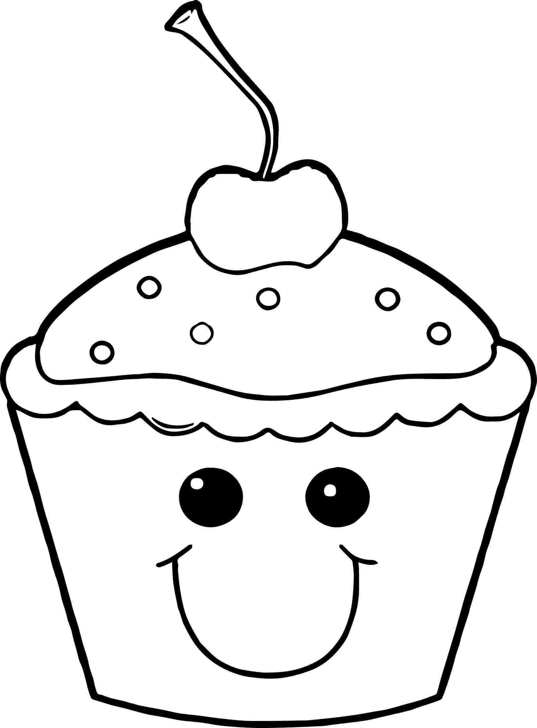 Kawaii Cupcake Coloring Pages Paginas Para Colorear Para Ninos Paginas Para Colorear Pastelitos De Dibujos Animados
