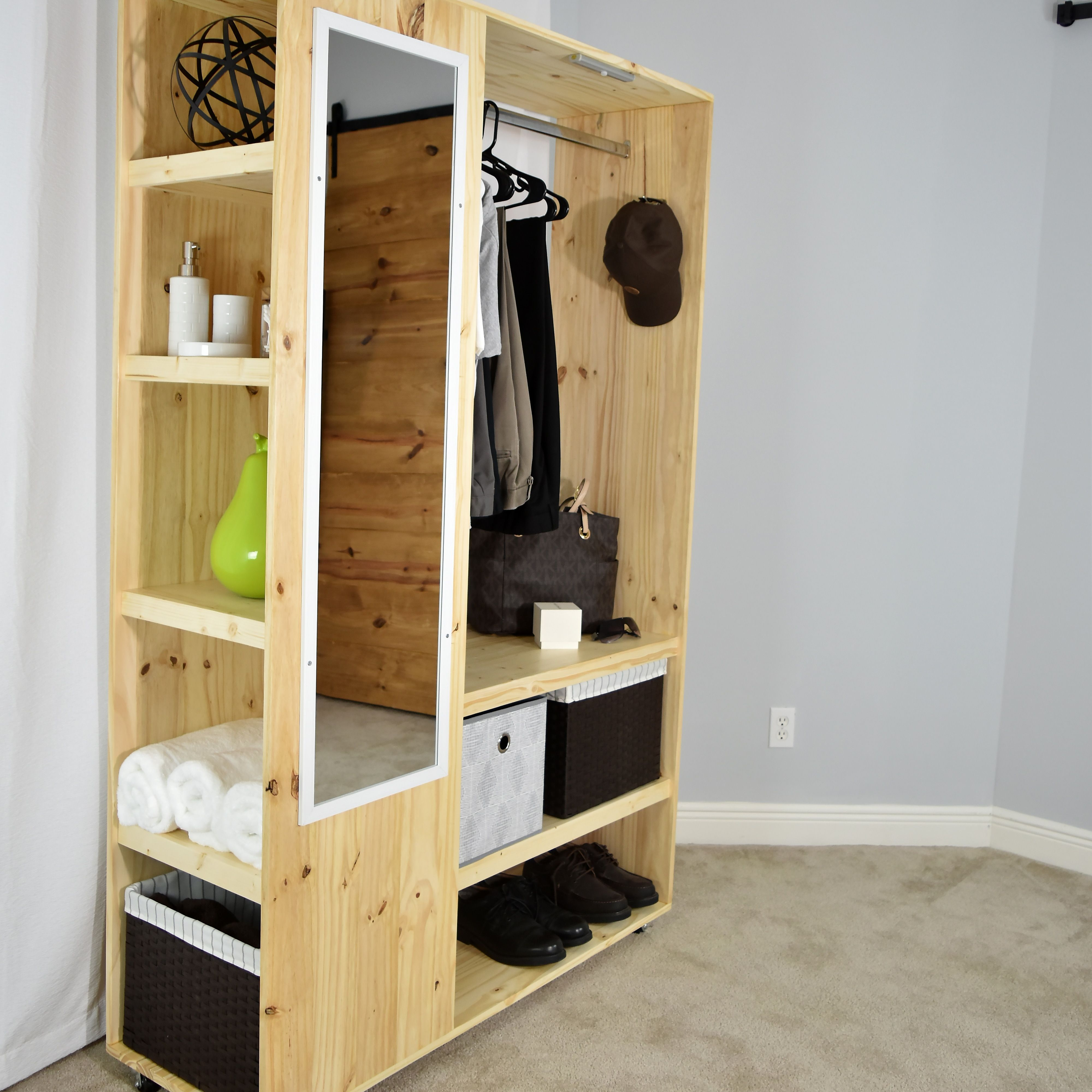 Diy Portable Closet Organizer Pdf Plan In 2020 Portable Closet