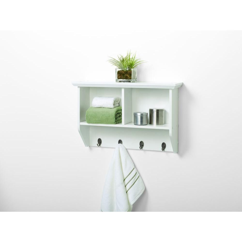 Zenith Collette 23 in. W Wall Cubby Shelf in White 9924WWA at The Home Depot - Mobile