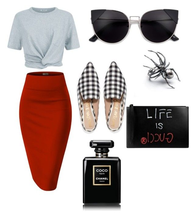 """Day Out"" by catlovaa56 ❤ liked on Polyvore featuring T By Alexander Wang, Whit, Sam Edelman, Gucci and Chanel"