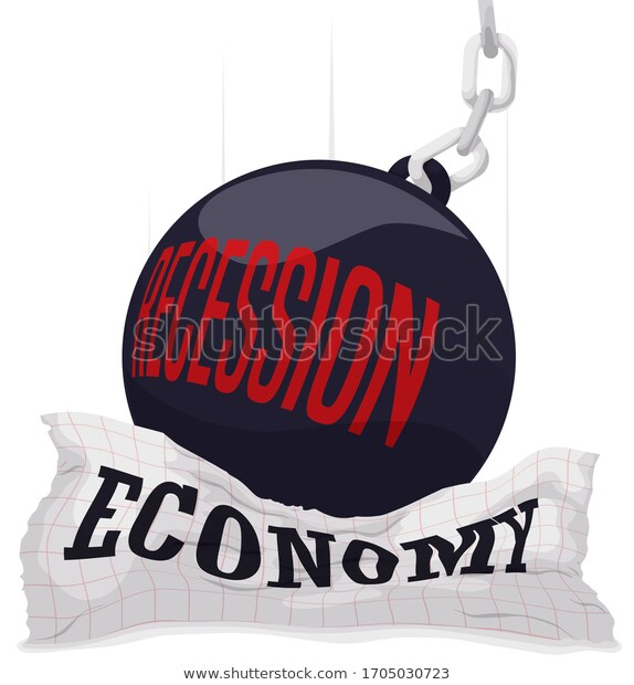 Heavy Wrecking Ball Falls Smashing A Squared Paper Symbolizing The Upcoming Economic Recession And Its Oppressive Consequences Wrecking Ball Ball Smash
