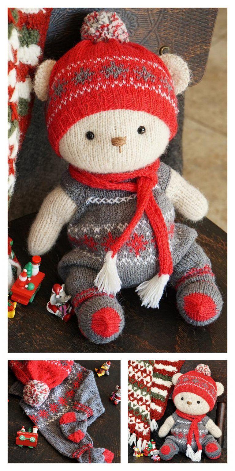 Amigurumi Christmas Tiny Teddy Bear Free Pattern - Free ...