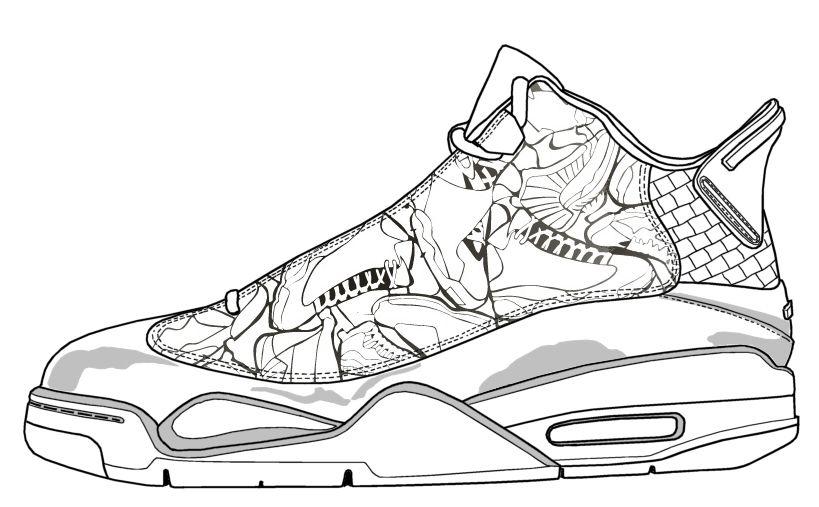 sneakers kleurplaat kleurplatenl