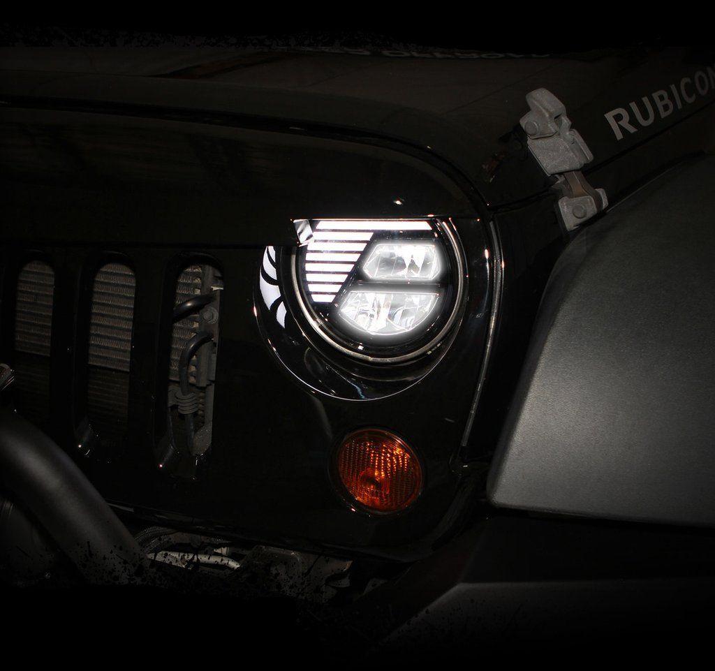 7 Rugged Black Led Cree Headlights Plug Play For Jeep Wrangler Jk 07 Current Jeep Jk Jeep Wrangler Wrangler Jk