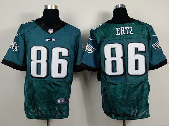 nike eagles zach ertz midnight green team color mens stitched nfl new elite jersey and pat mcafee jersey