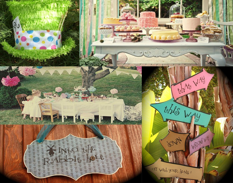Alice In Wonderland Decorations Alice In Wonderland Kids Party Food Decor Pinterest