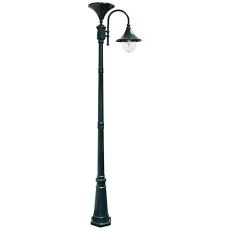 Constructed Of Green Powdercoated Cast Aluminum This Tall Solar