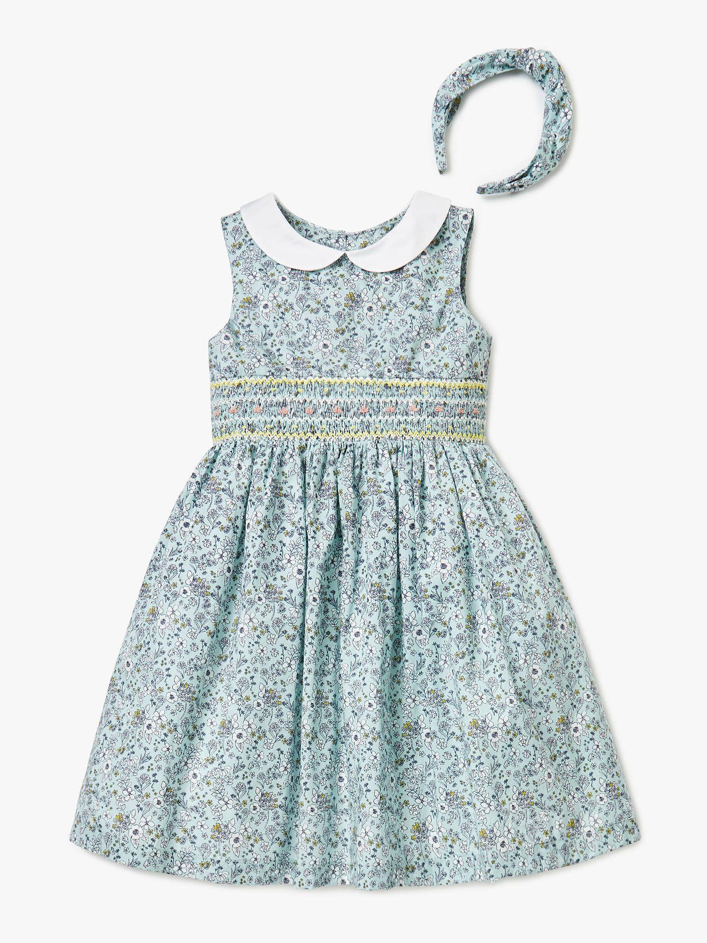 cd53cf860 John Lewis & Partners Heirloom Collection Girls' Ditsy Floral Dress, Blue  at John Lewis