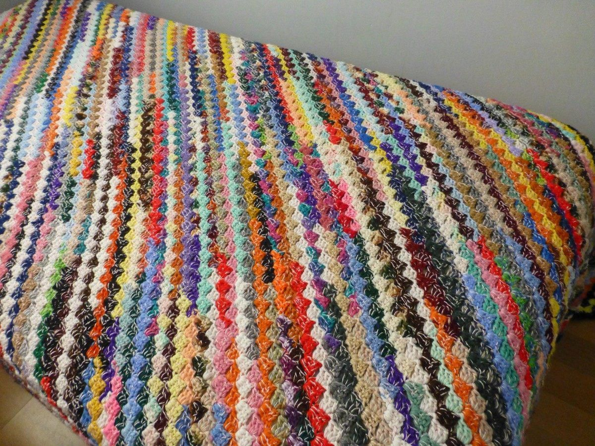 Colorful Throw Blankets Captivating Crochet Afghan Colorful Throw Blanket Fall And Winter Warm Throw Design Ideas