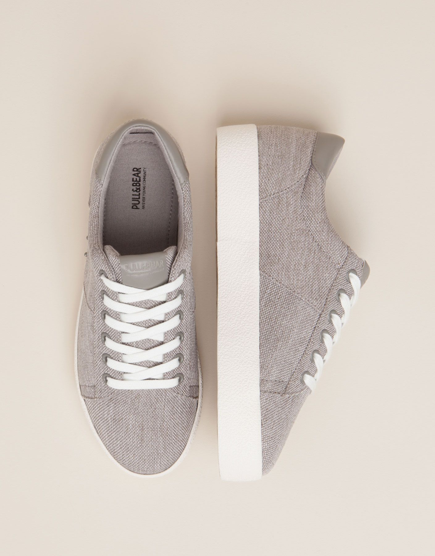 new styles 9ab42 e9b99 BAMBA BLOQUE COLLEGE GRIS - ZAPATOS MUJER - MUJER - PULL BEAR España
