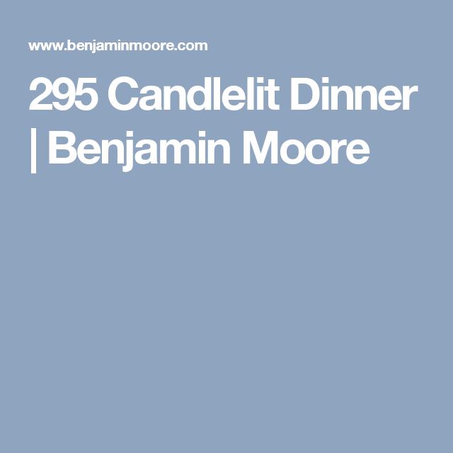 295 Candlelit Dinner | Benjamin Moore