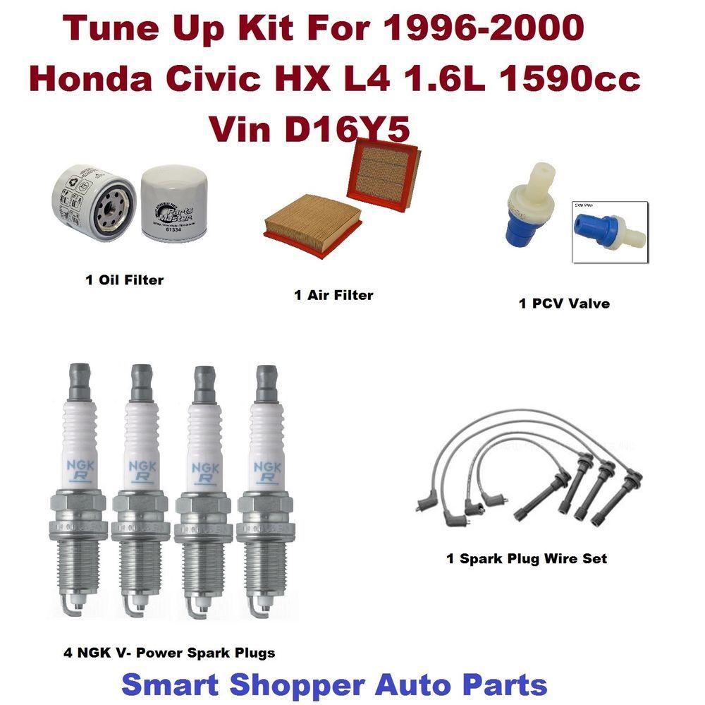 Tune Up Kit for 19962000 Honda Civic HX Spark Plug Wire