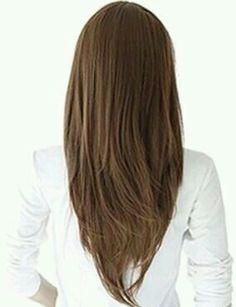 cortes de cabello largo en v para mujeres