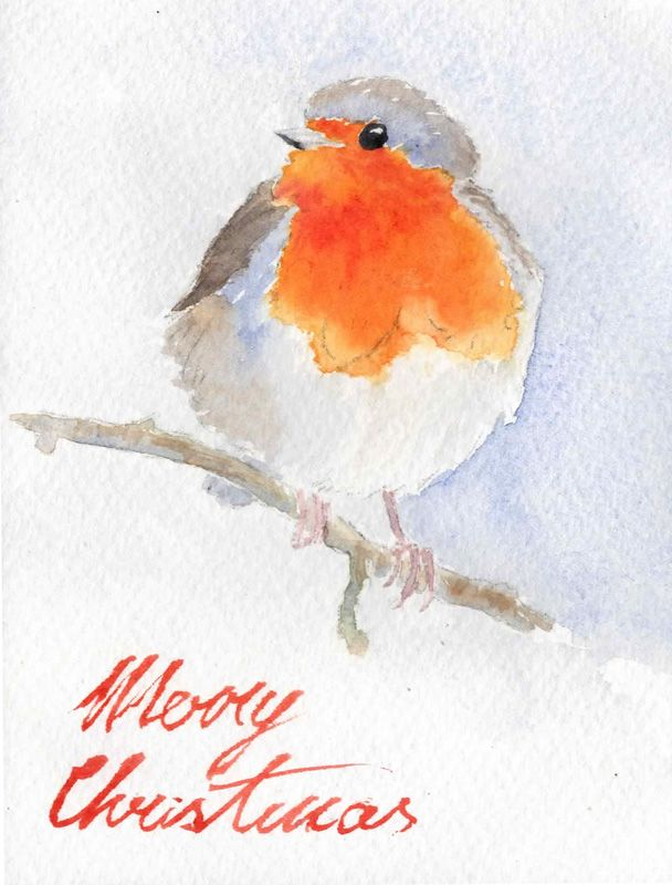 Image result for watercolor christmas cards | Sketch n watercolor in ...