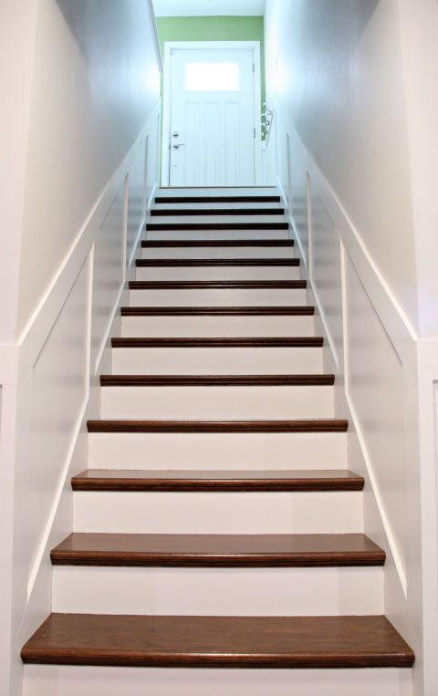 Iheart Organizing Secret Stairs No Longer A Secret Diy | Home Depot Wood Stair Steps | Carpet | Deck Stairs | Stair Parts | Deck | Oak Stair Nosing
