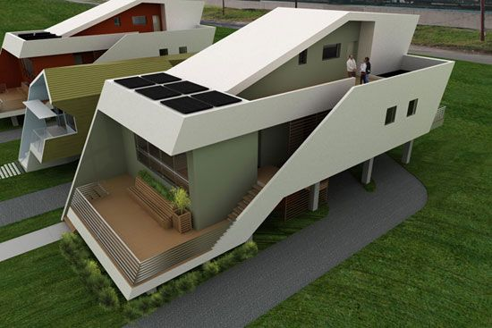 Pin By Seamless Development Inc On Green Tech Unusual Homes House Design Eco Friendly House
