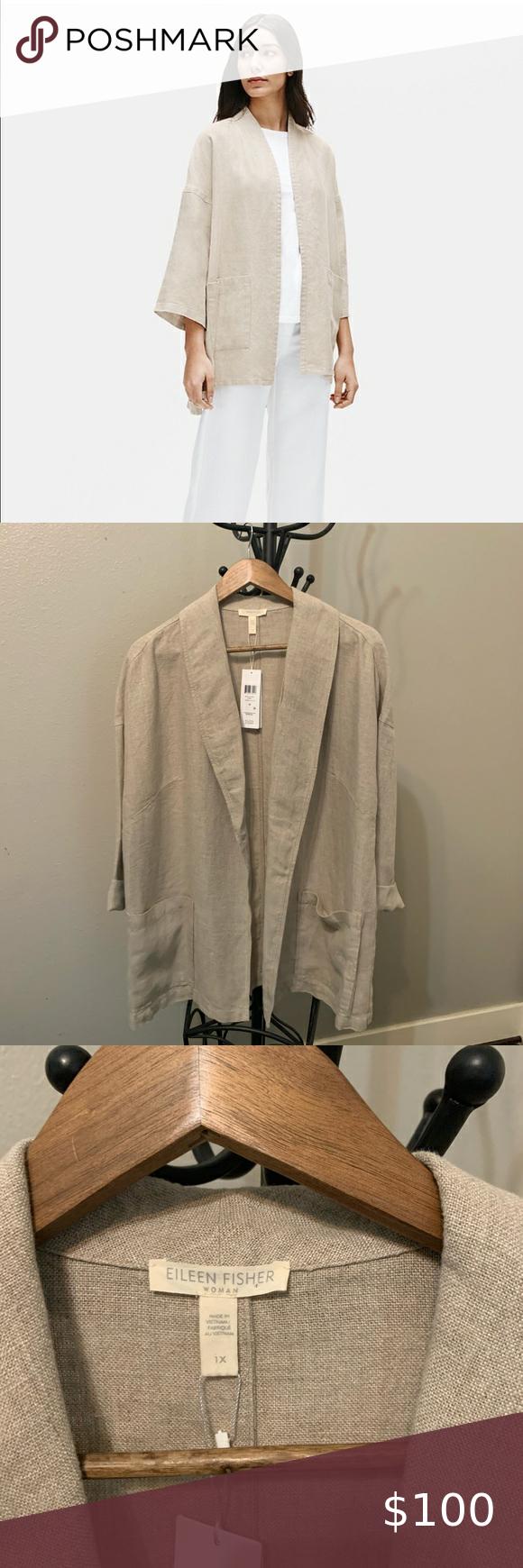 Eileen Fisher 1x 2x Heavy Organic Linen Jacket Linen Jackets Organic Linens Eileen Fisher Jacket [ 1740 x 580 Pixel ]