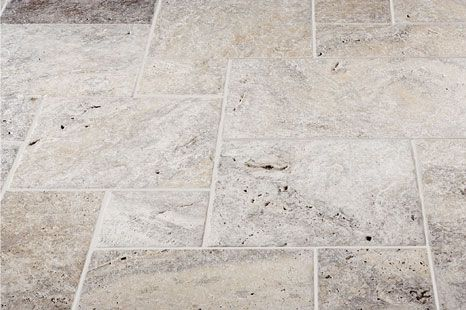 Grey Travertine Design For Master Floor