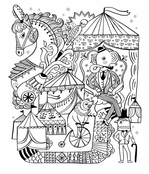 Under The Big Top Imagination Whimsical And Coloring Books Imagination Movers Coloring Pages