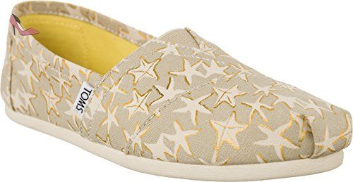 TOMS 10009729 Tan/Gold Starfish Größe 41 Tan/Gold Starfish c4uRAJ