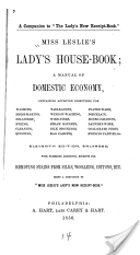 Gold! A book from 1850 on household management. Includes instructions for sewing, and different kinds of men's shirts.
