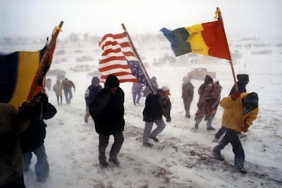 """...On February 27th, 1973, an independent nation was declared in the tiny village of Wounded Knee on South Dakota's Pine Ridge Reservation. For 71 days, a group of American Indian Movement (AIM) members and traditional Oglala Lakota people held ground in a shooting war against the largest internal deployment of federal forces since the Civil War..."" http://www.oocities.org/lakotastudentalliance/lsa2_wk73to98JLurie.html"
