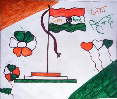Flag Of India By Areen Fatima Art Childs Indian Flag Flag Art