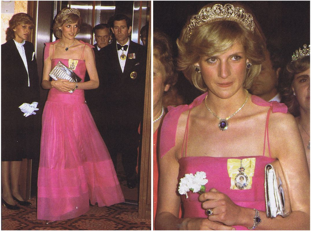 princess diana in pink dress italy tour she wore a